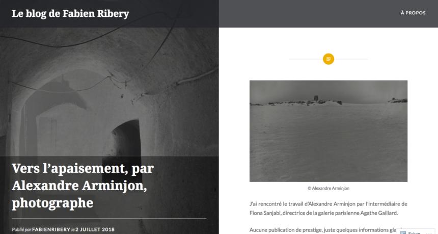 """Articles – """"Vers l'apaisement, par alexandre arminjon, photographe"""""""